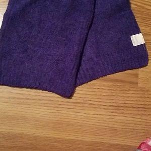 Chenile purple scarf